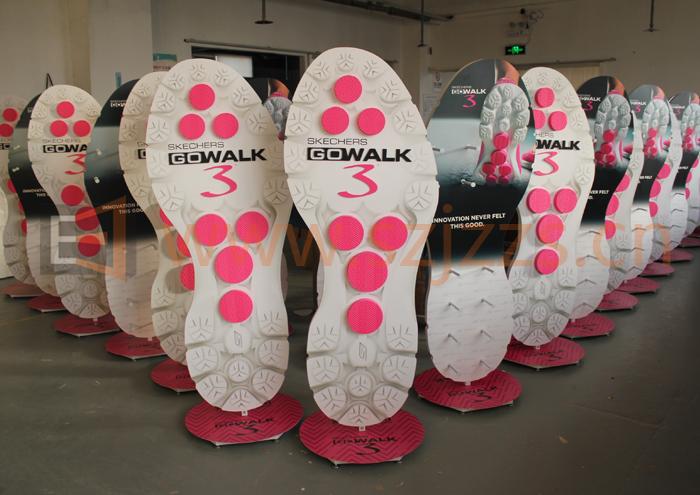 斯凯奇品牌鞋架定制生产案例