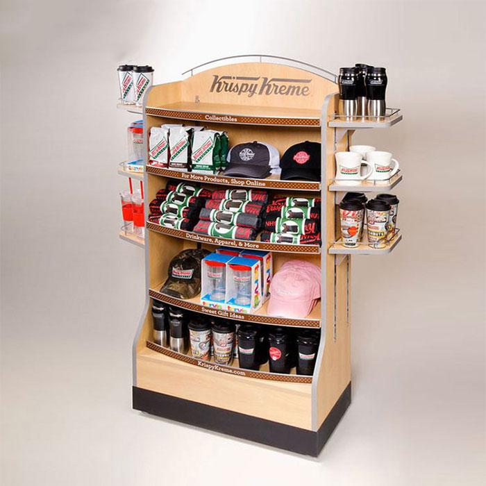 木制展示架,食品饮料展示架定制