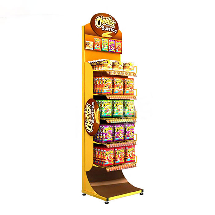 食品零食展示架定制