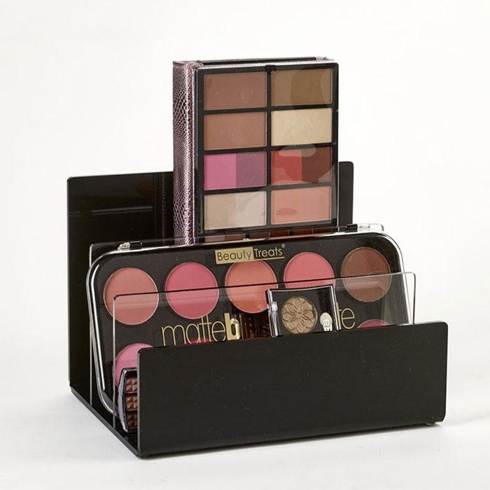 口红、眼影、眉笔化妆品展示柜展示架,可根据产品品牌定制