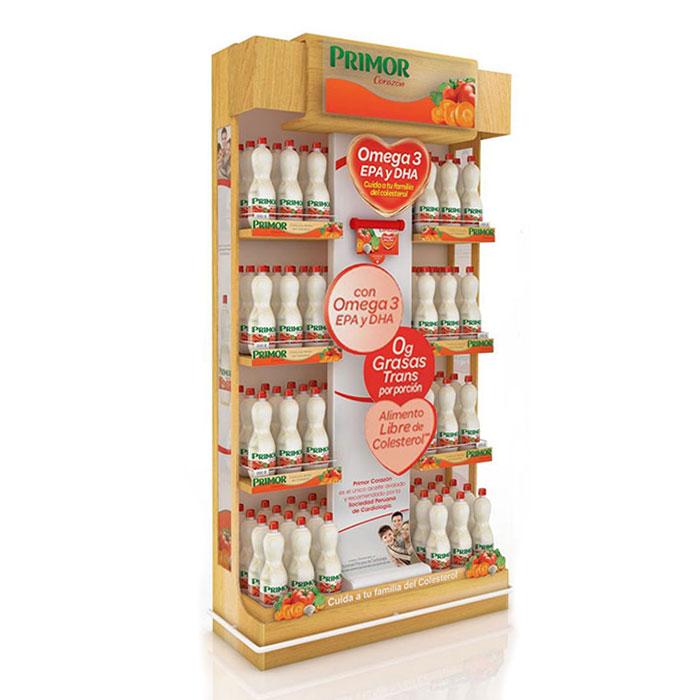 饮料展示架定制 超市食品陈列架制作