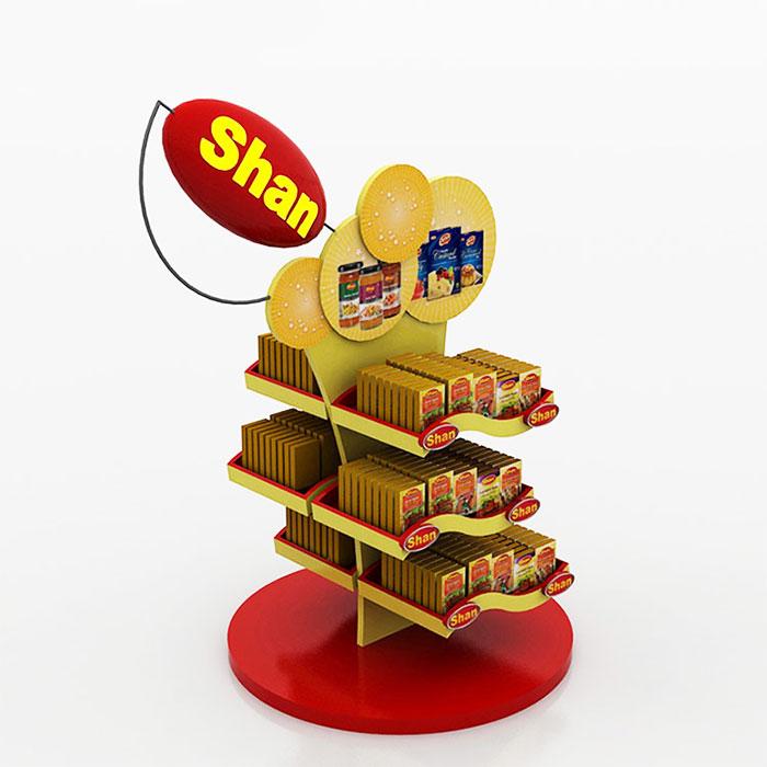 创意食品展示架,零食小吃展示陈列架子订做