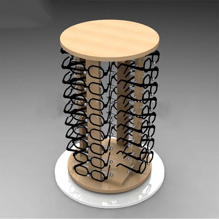 小型木质眼镜展示架定制