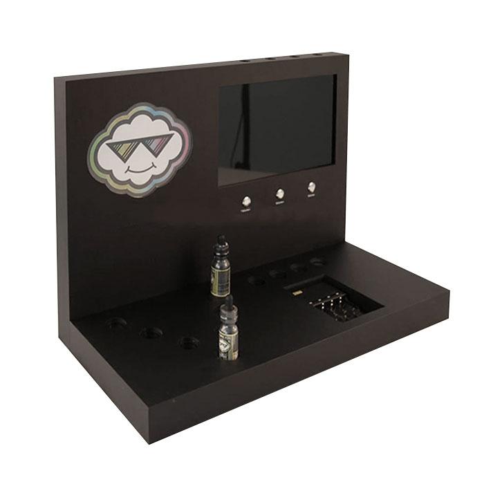 台面亚克力烟油架定制 黑色亚克力展示架