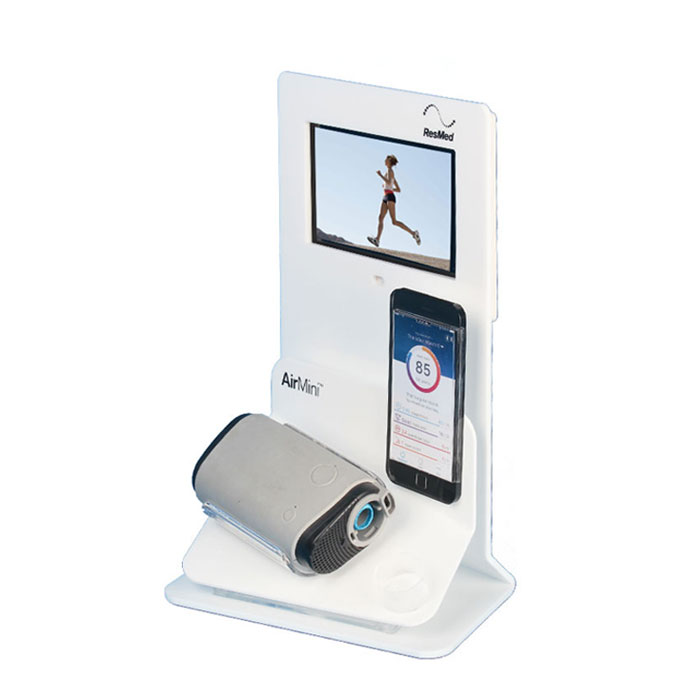 亚克力 音响展示架带视频播放器