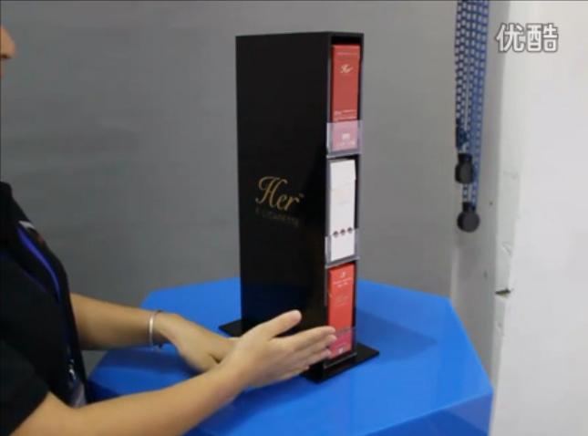 抽拉式亚克力女士电子烟展示架视频介绍