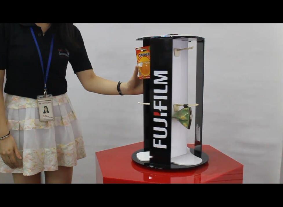 可旋转系列台面亚克力展示架设计及生产工艺视频介绍