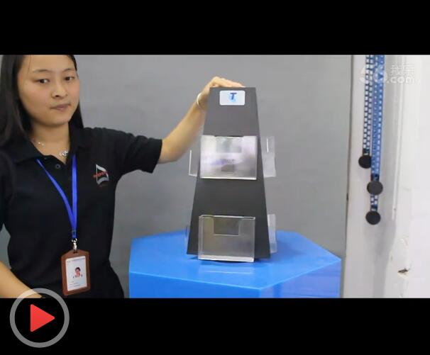 PVC+亚克力材质 台面可旋转手机配件展示架视频介绍