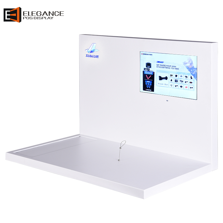定制亚克力时尚水下摄影无人机展示架带LCD展示屏 工厂直销
