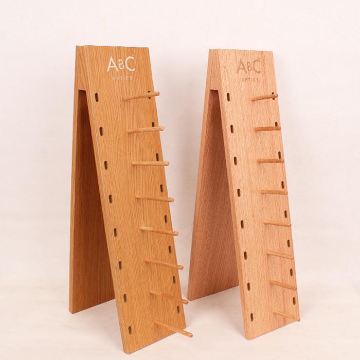 木制台面眼镜展示架
