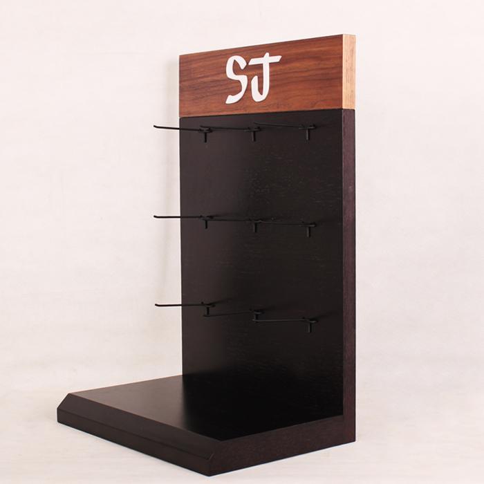 木质台面挂钩展示架定制