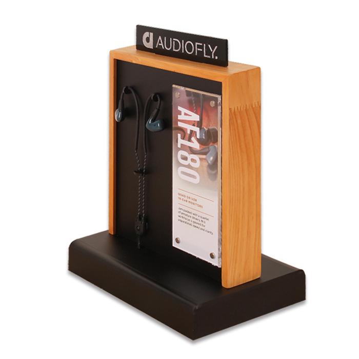 双面耳机展示架,电子产品展示架定制
