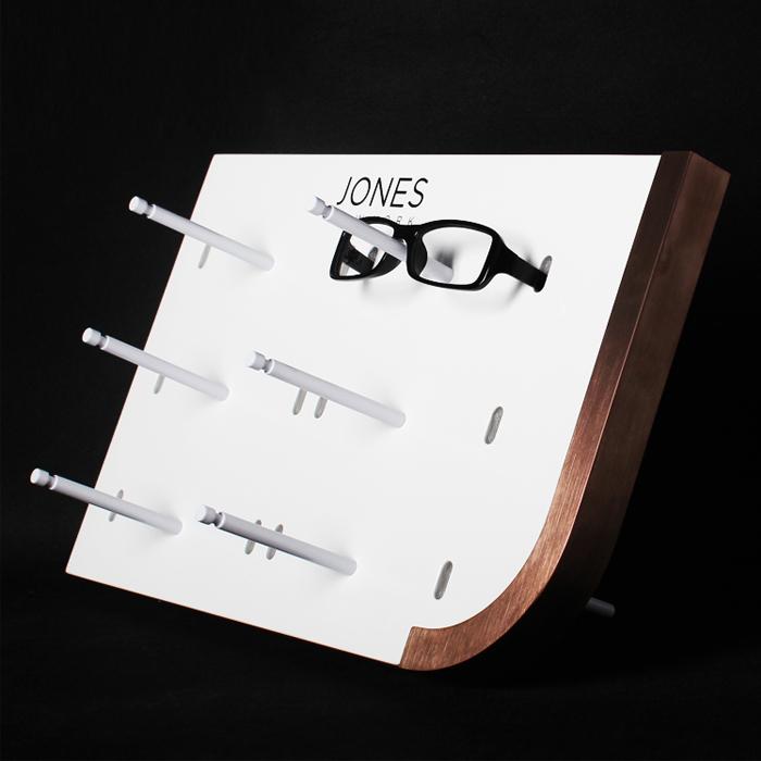 眼镜展示架 木质台面展示架批发定制