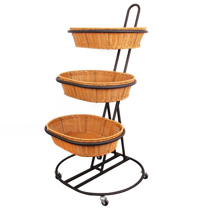 便携式水果/菜篮子展示架,可用于超市及日用品卖场