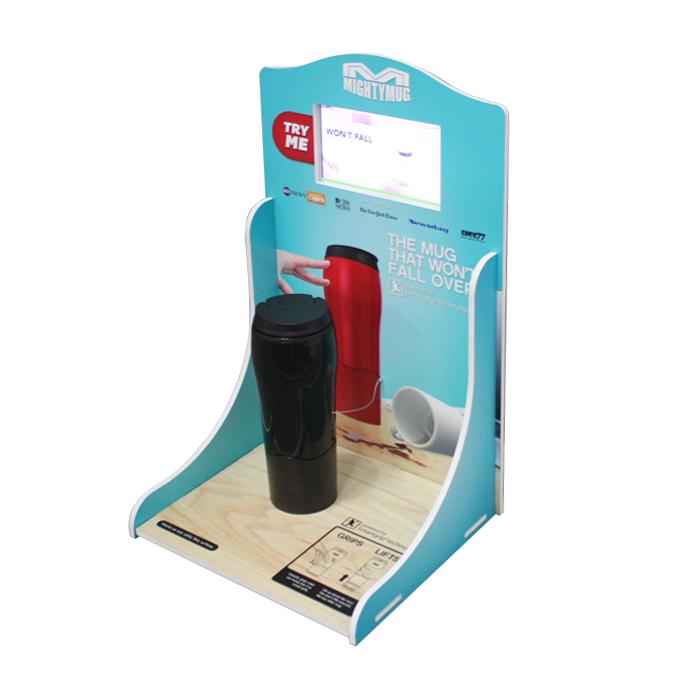 【Mighty Mug品牌】带LCD屏PVC杯子展示架