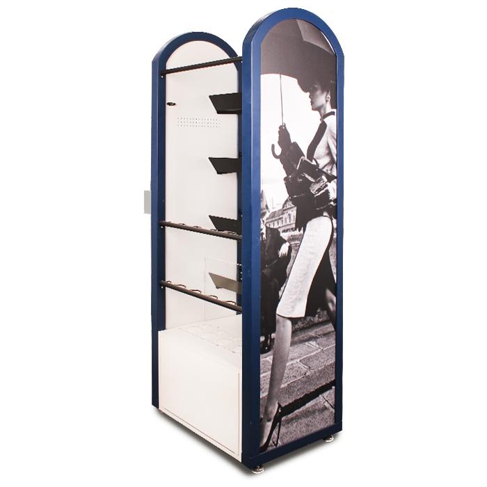 落地式时尚设计金属MDF亚克力带LCD显示屏雨伞展示架