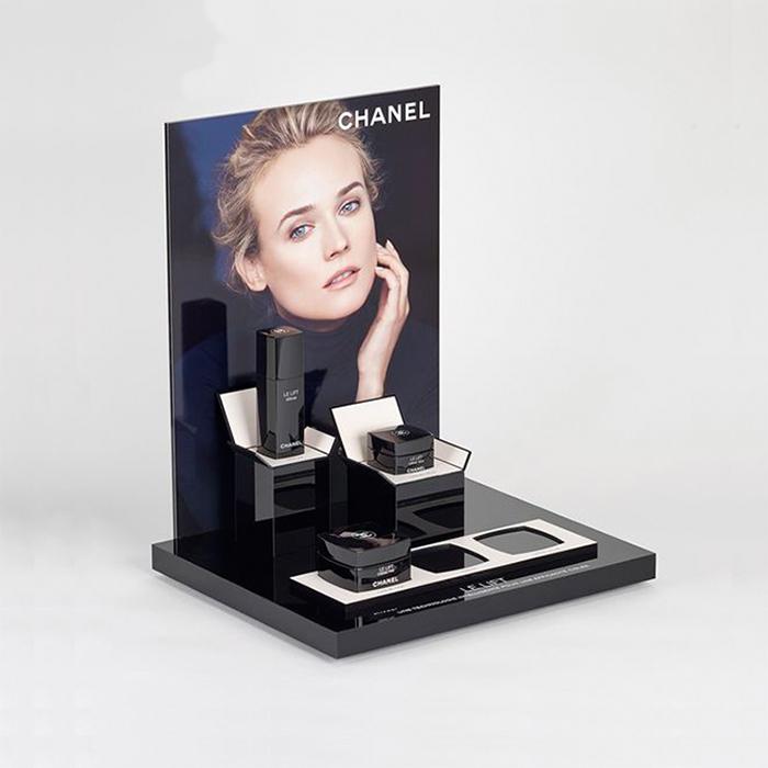 化妆品压克力展架定制批量加工生产