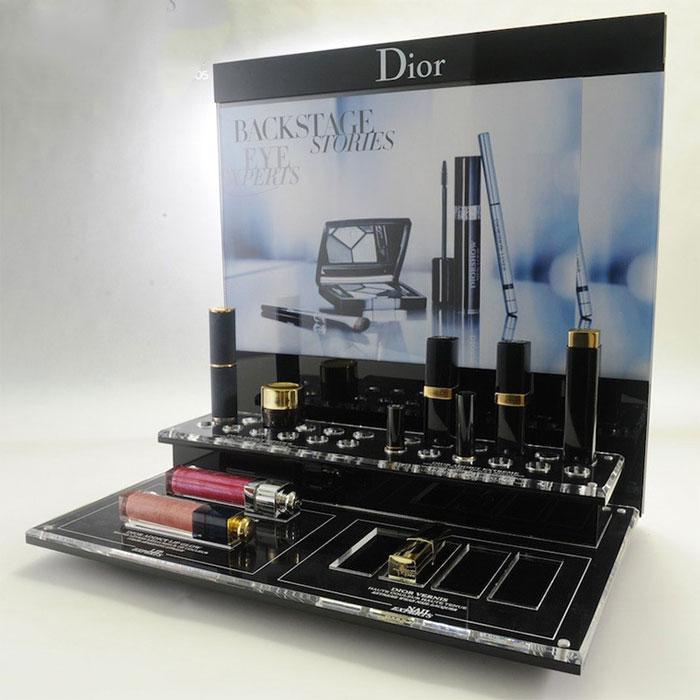 台面亚克力化妆品桌面展示架定制加工