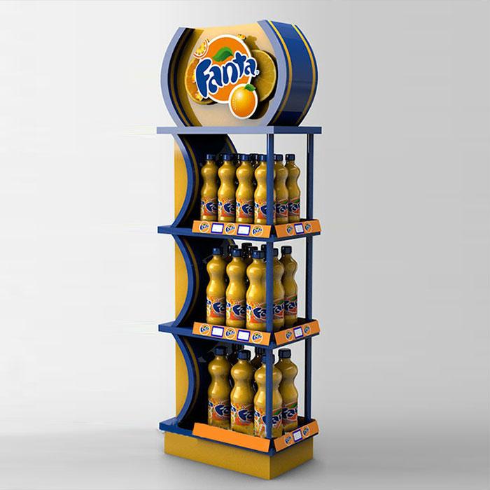 三层铁制食品展示架(用于饮料、罐装食品类产品展示)