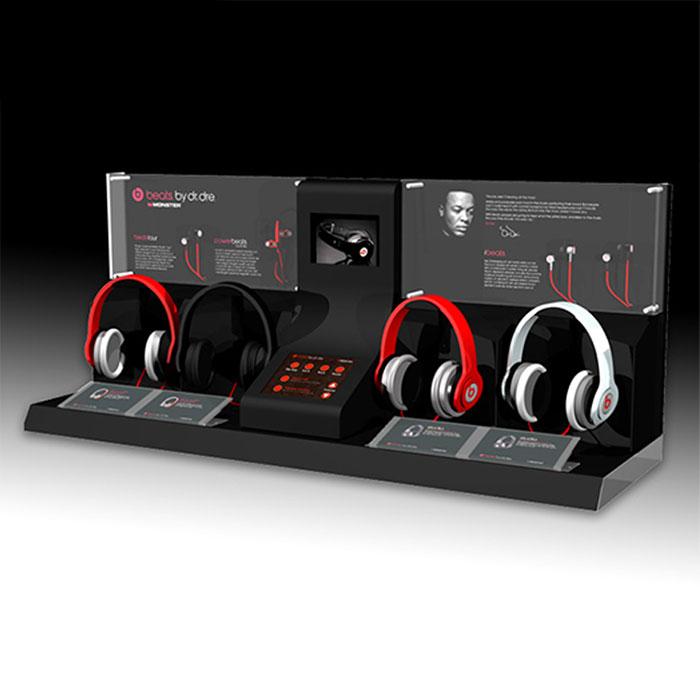 耳机展示架定制,品牌亚克力展架设计定制