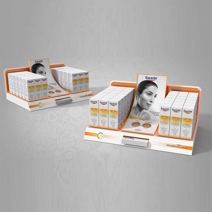 品牌化妆品系列展示架 护理用品展示架定制