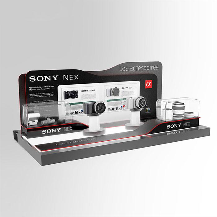 电子产品展示架定制 摄像头陈列架展示架