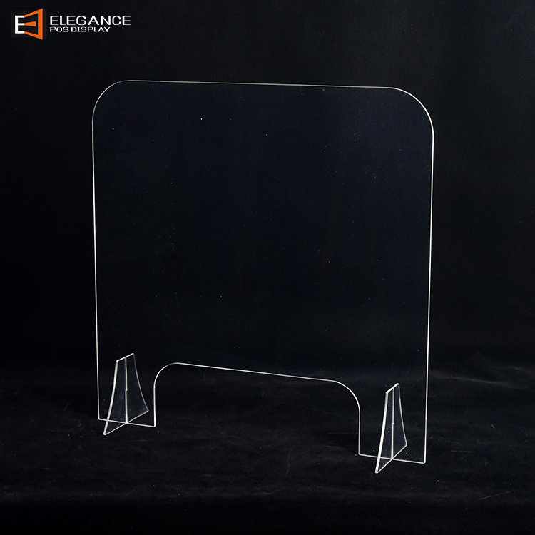 防飞沫防疫产品台面一字型亚克力隔离板适用于食堂餐厅