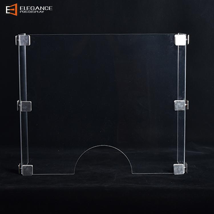 防飞沫防疫产品台面N字型亚克力隔离板适用于食堂餐厅
