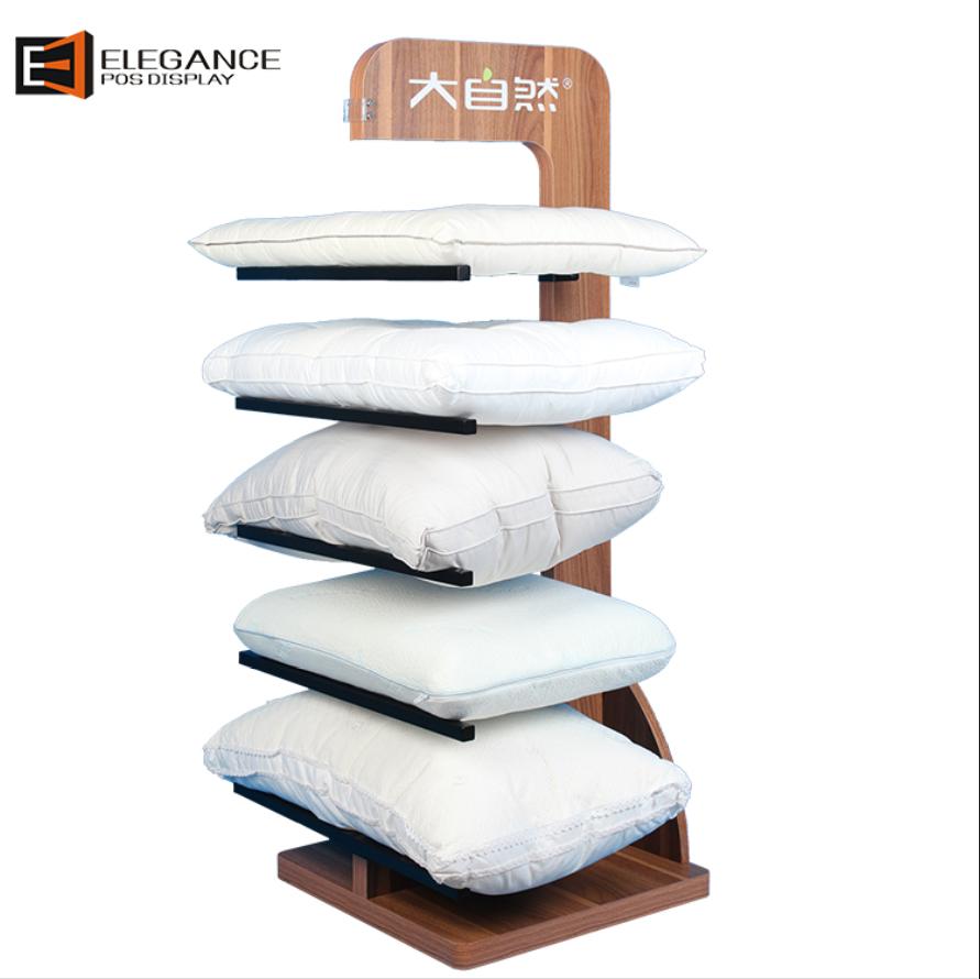 定制地板木质和金属靠垫展示架枕头架 工厂直销