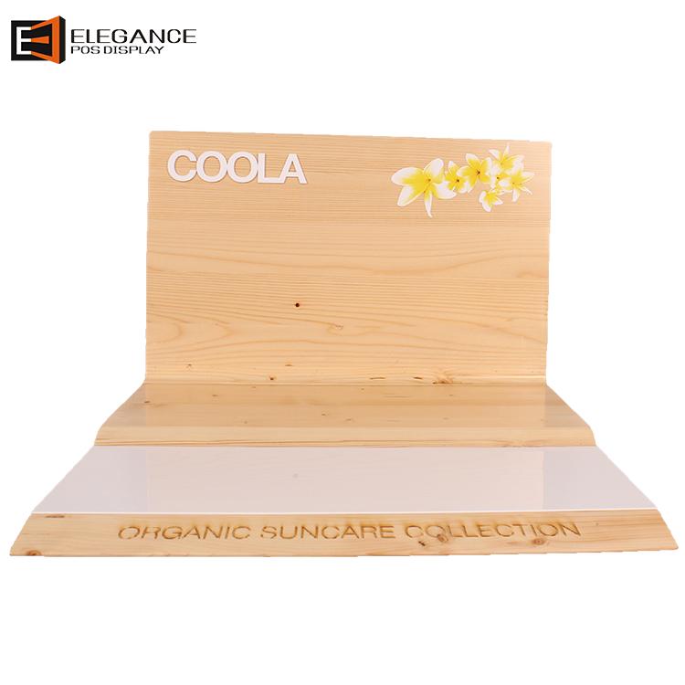 定制木制台面防晒产品展示架 展架设计批发