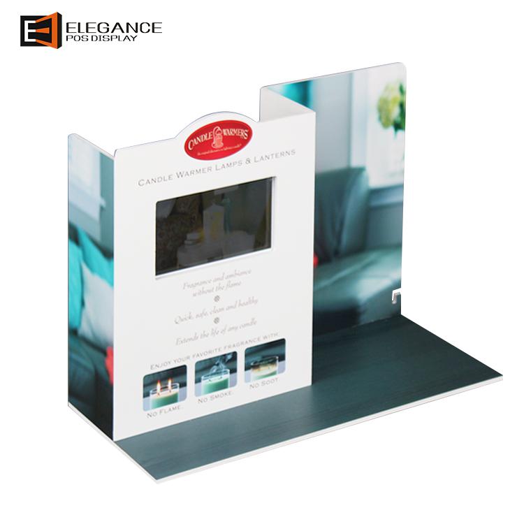 热卖PVC台面灯台灯展示架,带LCD和1G SD卡,用于购物商店