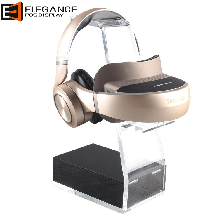 工厂定制简约设计柜台透明亚克力VR耳机展示架