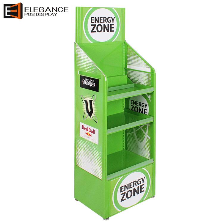 定制金属和PVC大型4 层落地展示架饮料展架