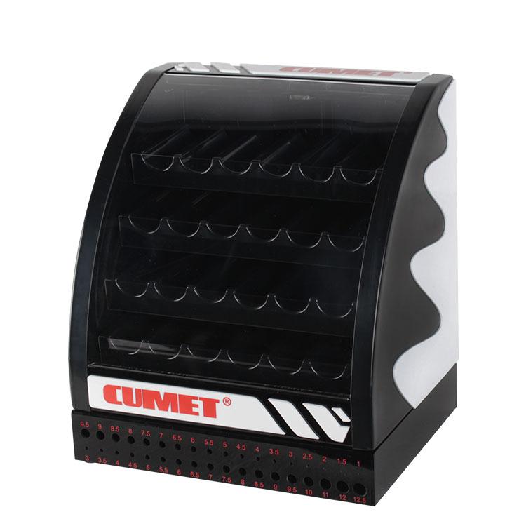 桌面黑色亚克力工具钻头展示盒带锁展示架