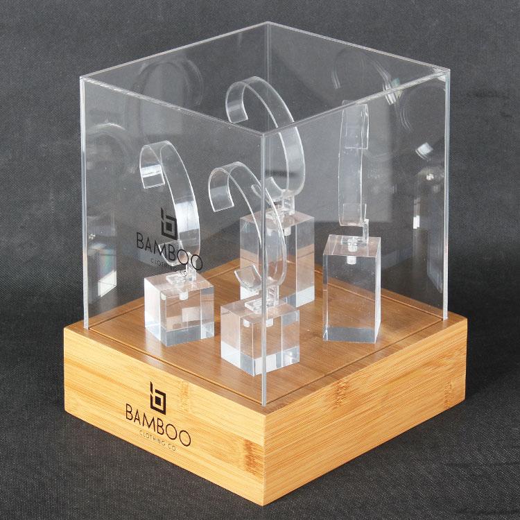 定制热销亚克力手表珠宝展示盒台面小展柜